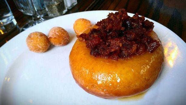 Bacon Butterscotch Donut at Nightwood Restaurant, 2119 S. Halsted Street