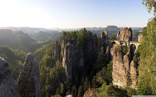 Bastei Bridge, Elbe Sandstone Mountains, Germany