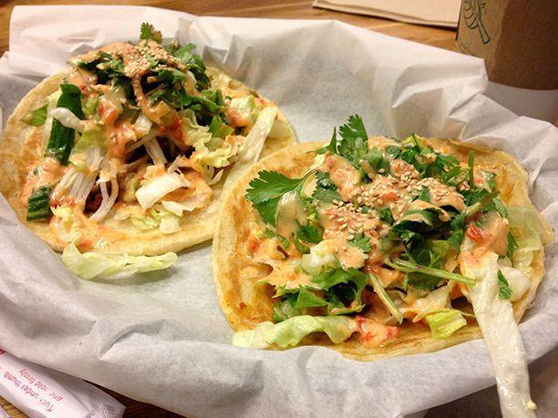 Paratha Tacos at En Hakkore, 1840 N. Damen Ave