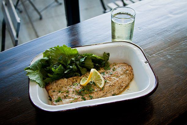 Broiled Lemon Whitefish at Brown Bag Sea Food Co., 340 East Randolph, Chicago