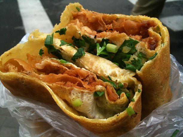 Jianbing (Chinese Crepes) at Nali, Chicago