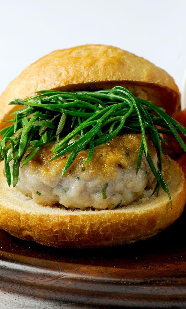 Squid and mackerel burger