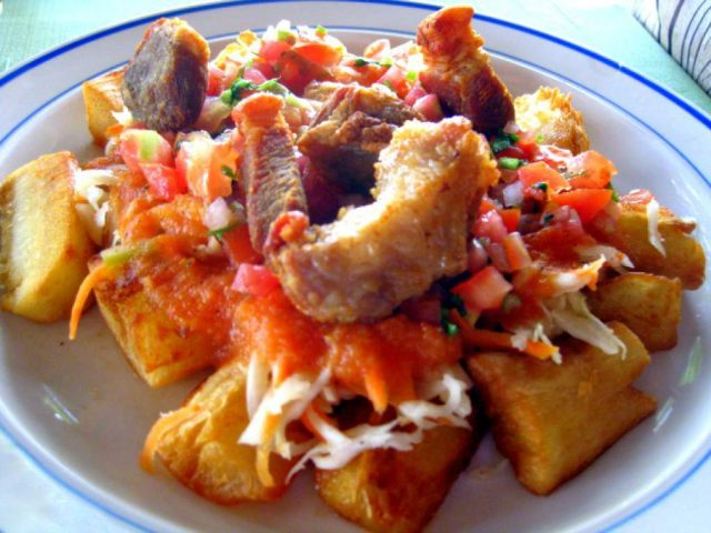 Picture of Yuca con Chicharron