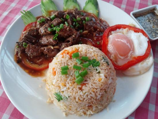 Beef Lok Lak Cambodian Traditional Food Picture