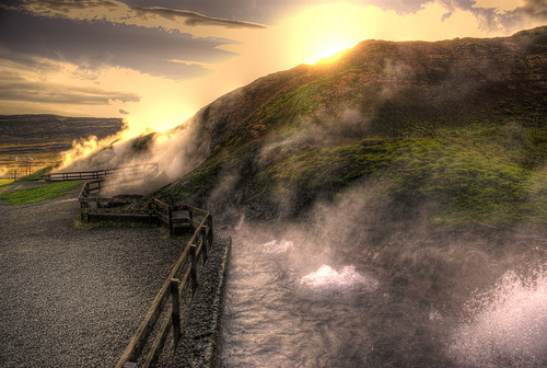 Deildartunguhver Hot Springs Iceland