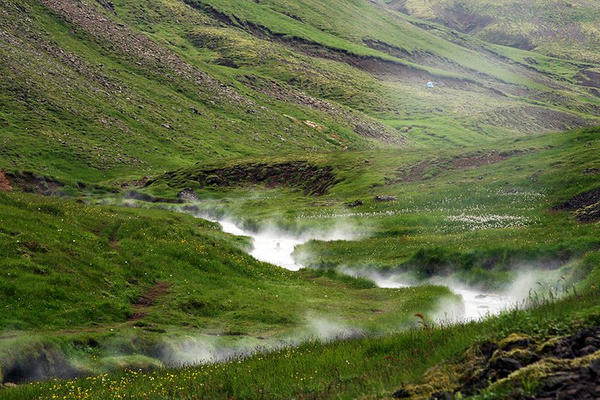 Reykjadalur Hot Springs in Iceland