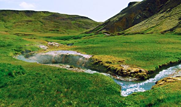 Reykjadalur Iceland Hot Springs Near Reykjavik