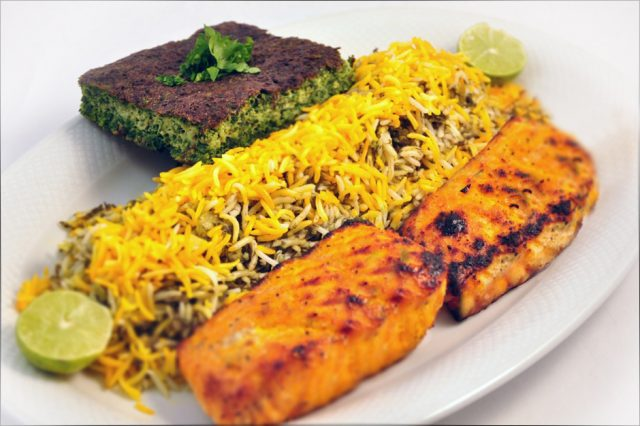 Sabzi Polo Ba Mahi Popular Iranian Food