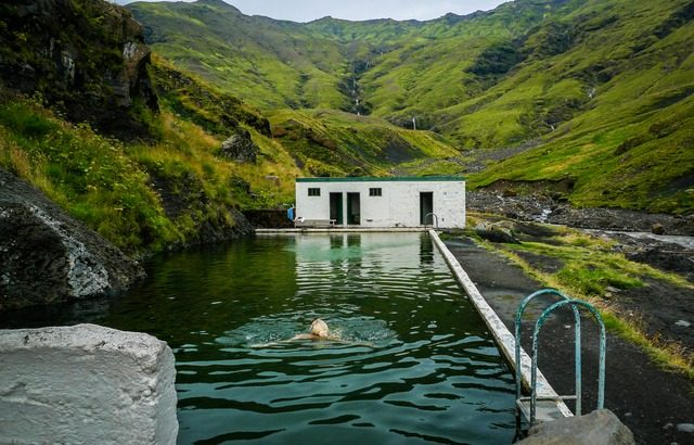 Seljavallalaug Hot Springs in Iceland