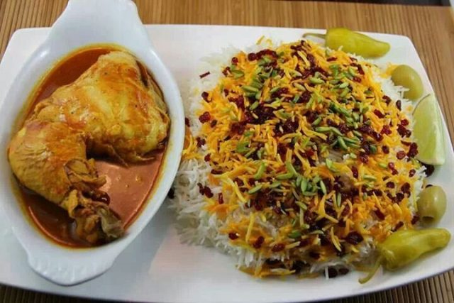 Zreshk Polo Traditional Persian Food