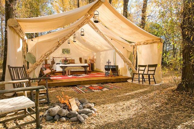 Beach Tent Camping in Santa Barbra Southern California
