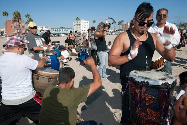 Drum Circle Venice Beach