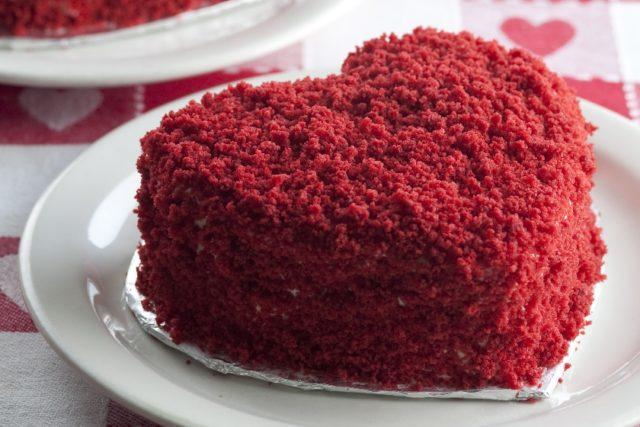 Red Velvet Cake Traditional French Dessert