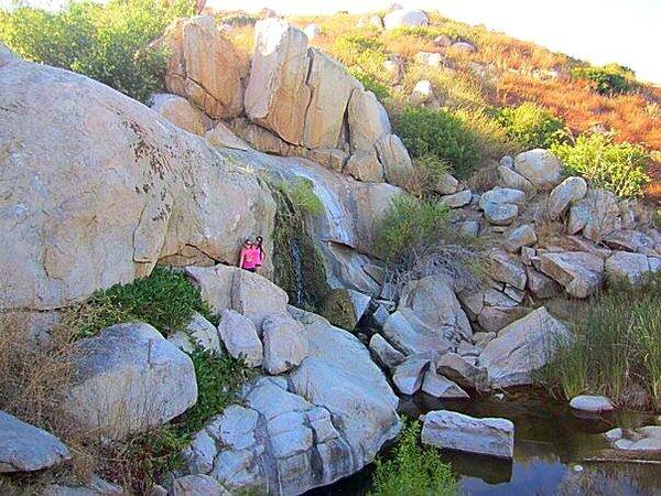 Waterfall Hikes in San Diego Piedras Pintadas Trail