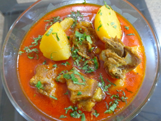 Aloo Gosht Traditional Pakistani Food