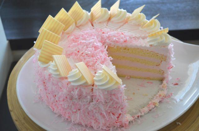 Haupia Cake Hawaiian Luau dessert