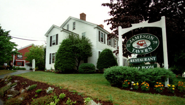 Jameson Tavern Restaurant Haunted Maine