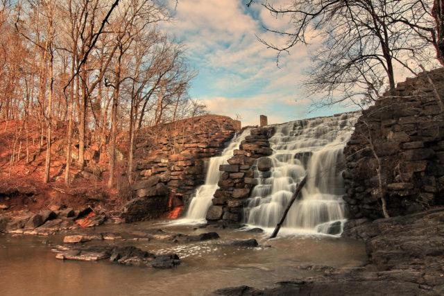 Waterfall in Alabama Chewacla Falls