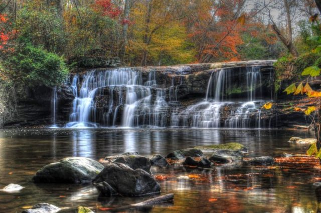 Waterfalls Alabama Mardis Mill Falls