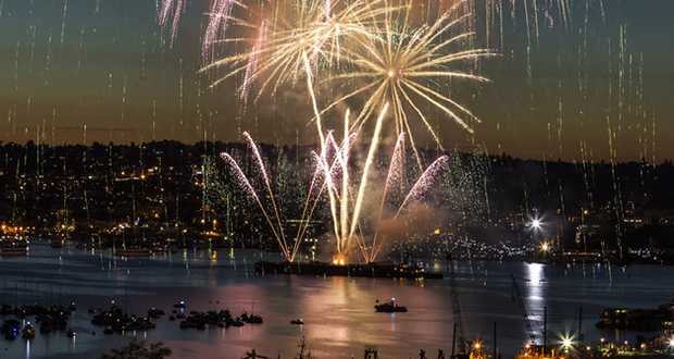 Fireworks Show Seattle Bhy Kracke Park