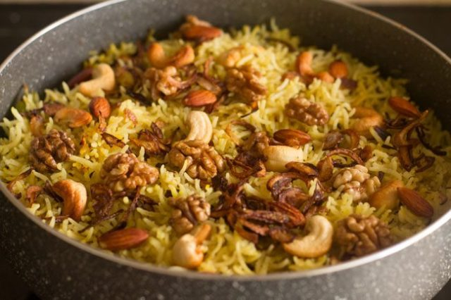 Kashmiri Polao Typical Jammu and Kashmir Food