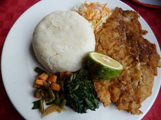 Ugali South African Vegetarian Food