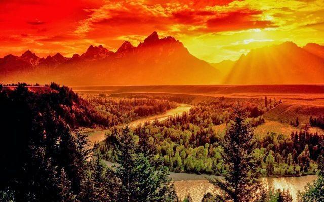 National Park in Wyoming Grand Teton