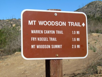 Hiking Trails San Diego Mount Woodson