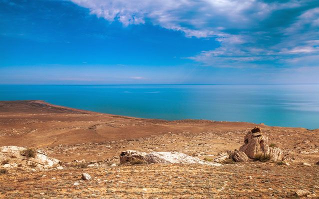 Deepest Great Lake Caspian Sea