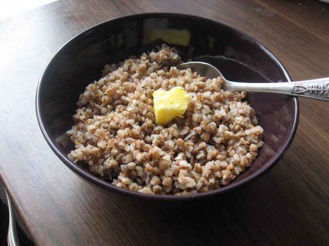 Kasha Ukrainian Buckwheat Pork Porridge Dish