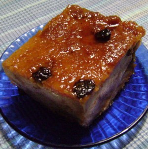 Budin Typical Bread Pudding from Puerto Rico