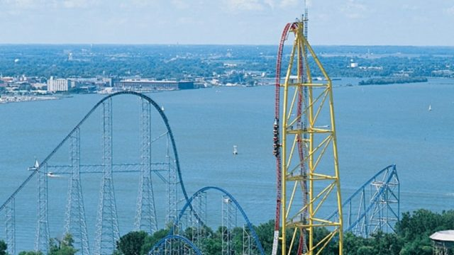 Tallest Roller Coaster at Cedar Point Top Thrill Dragster
