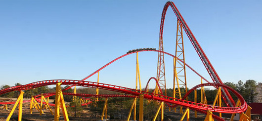 Tallest US Roller Coaster Intimidator 305