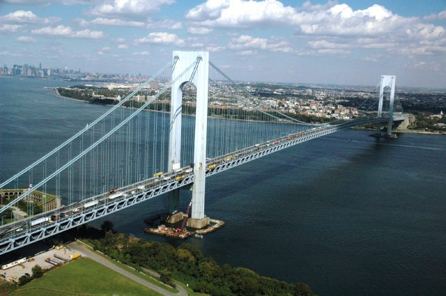 Verrazano-Narrows Bridge Longest in the USA