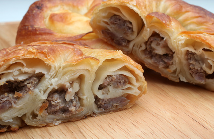 Croatian Burek – Meat-filled Baked Pastries