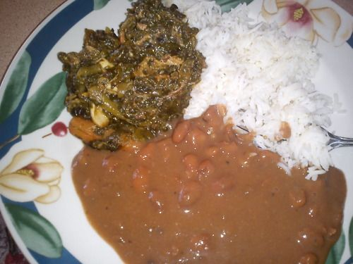 Lalo Legume – Common Haitian Food with Jute Leaves