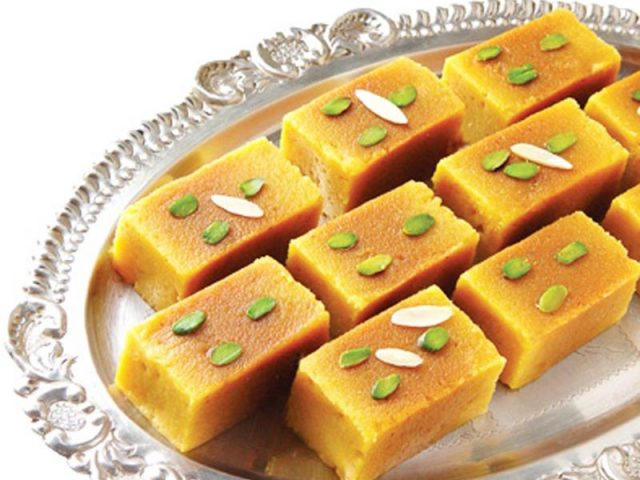 Mysore Pak Traditional South Indian Dessert