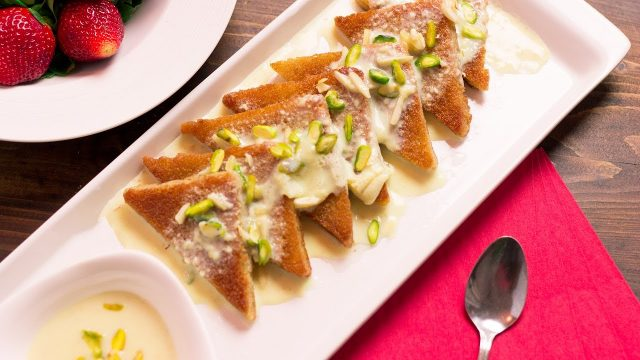 Shahi Tukda Authentic Indian Dessert Made with Bread