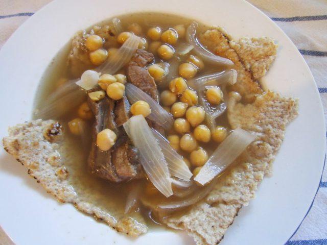 Tashreeb – A Breakfast Dish with Bread & Meat Soup