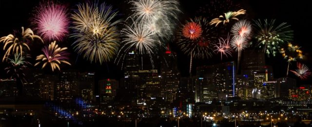 Denver Free Things to do New Year's Eve Fireworks Downtown
