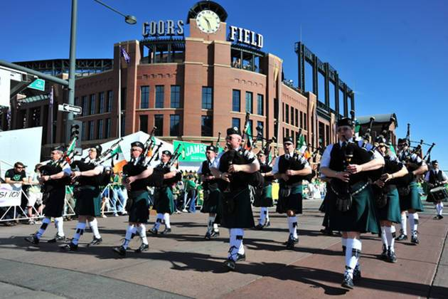Denver Free Things to do St. Patrick's Day Parade