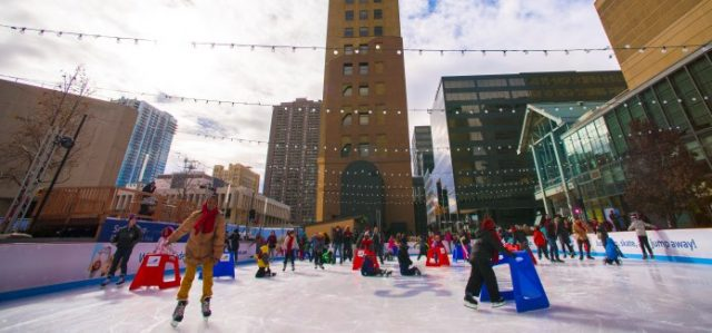 Fun Free Things to do in Denver Ice Skating at Skyline Park
