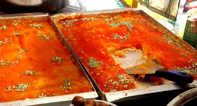 Knafeh – Syrup-soaked Cheese Dessert