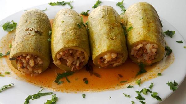 Image result for Kousa Mahshi (Stuffed Zucchini)