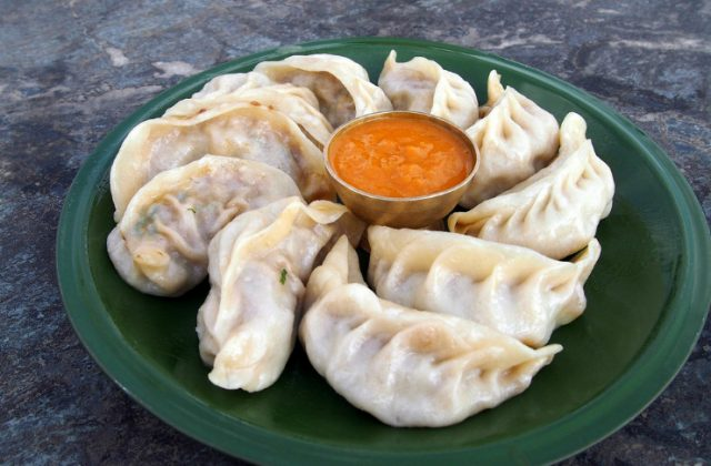 Nepali Momo – Meat Dumplings Served with Hot Sauce