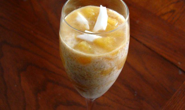 Coconut and Pineapple Quinoa Pudding Peruvian Dessert