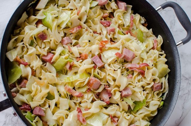 Haluski – Pan-Fried Noodles with Cabbage for Easter & Lent