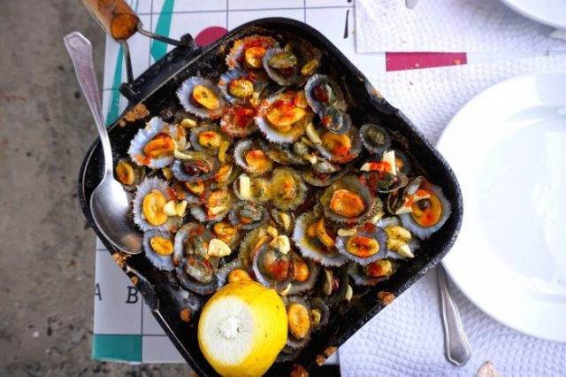 Grilled Limpets with Garlic Butter Portuguese Food