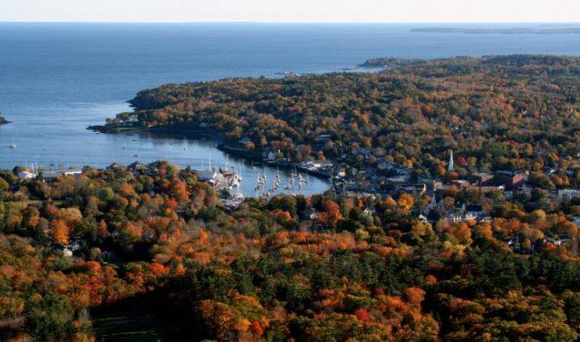 Camden Hills State Park Maine Hiking Trail Sea Coast