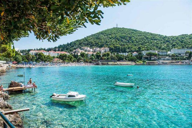 Lapad Bay Beach in Croatia